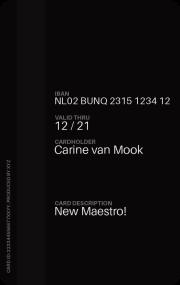 Auch bei der Maestrocard ist ein zweites Textfeld vorhanden, welches bei der Bestellung der Karte frei beschriftet werden kann. Beispielsweise mit Donald Duck. ;-)