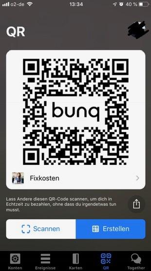 Blackwater.live - Bunq QR Code Zahlungen