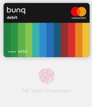 Blackwater.live - Apple Pay und bunq