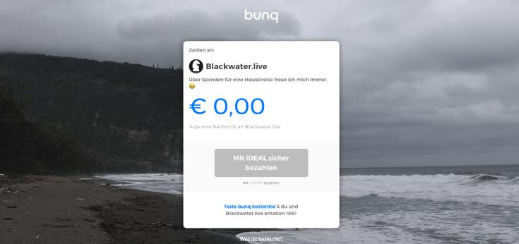 Blackwater.live - bunq.me