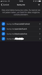 Die bunq.me Links lassen sich individuell erstellen und Konten zuordnen. Der Rest erklärt sich von selbst.