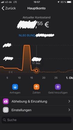 Neuerdings bekommt man graphisch in der bunq App den Kontostandsverlauf angezeigt.