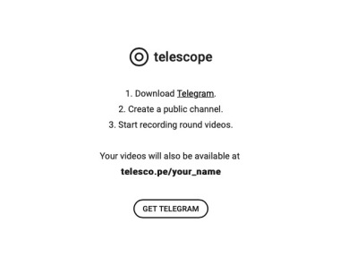 Telegram % Scope