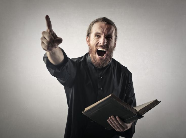 Screaming priest