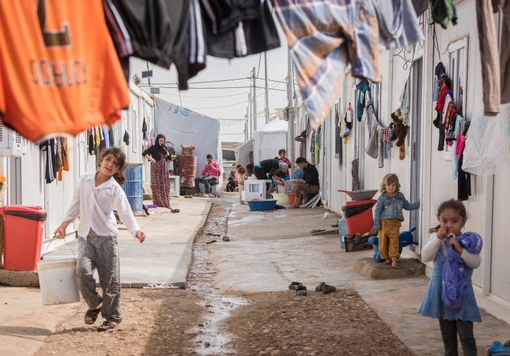 IDP Camp in kurdish autonomie region